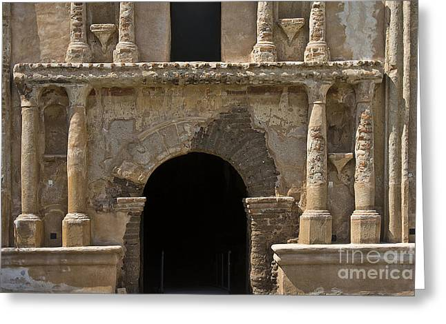 Tumacacori Mission Entrance Greeting Card by Tim Hightower