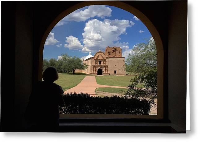 Tumacacori Mission Greeting Card by Feva  Fotos