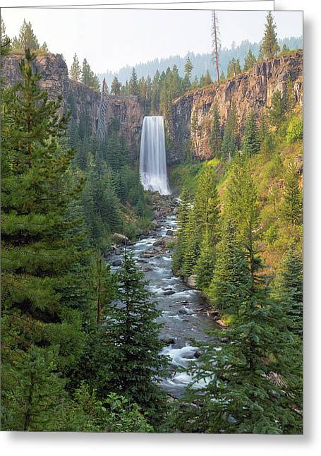 Tumalo Falls In Bend Oregon Greeting Card by David Gn
