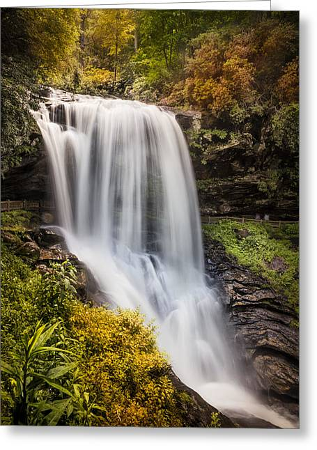 Tumbling Waters At Dry Falls Greeting Card by Debra and Dave Vanderlaan