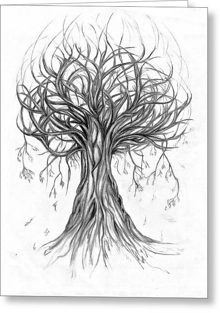 Tumble Tree Greeting Card by Eugenia Martini-Jarrett