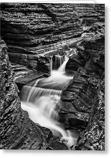 Tumbling Waters #2 Greeting Card by Stephen Stookey