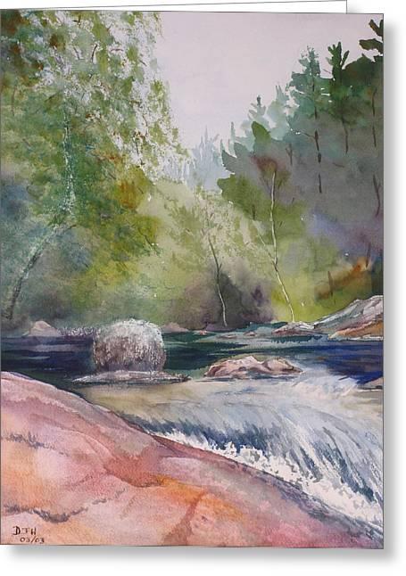 Tumbling Waters  Greeting Card by Debbie Homewood
