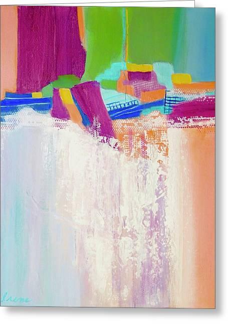 Tumbling Waters Greeting Card by Irene Hurdle