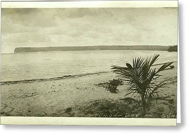 Greeting Card featuring the photograph Tumon Bay Guam by eGuam Panoramic Photo