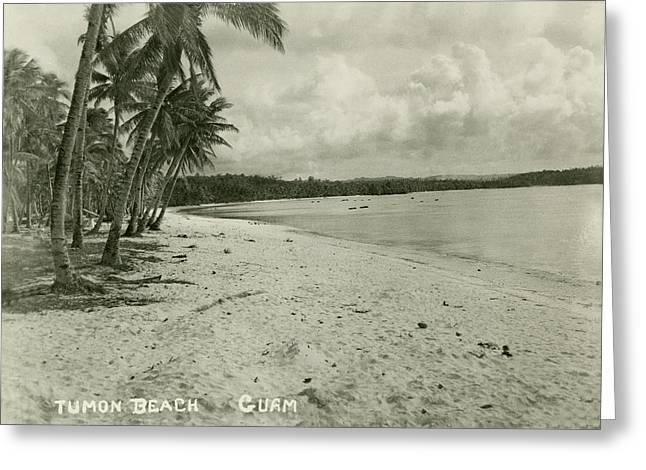 Greeting Card featuring the photograph Tumon Beach Guam by eGuam Photo