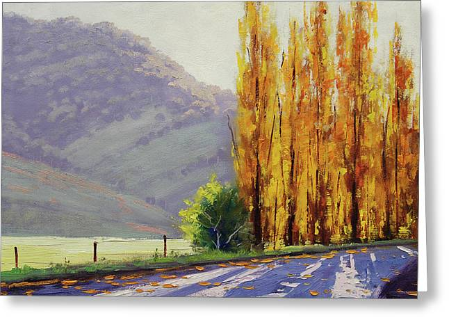 Tumut Poplars Greeting Card by Graham Gercken
