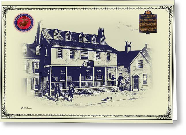 Bill Cannon Greeting Cards - Tun Tavern - Birthplace of the Marine Corps Greeting Card by Bill Cannon