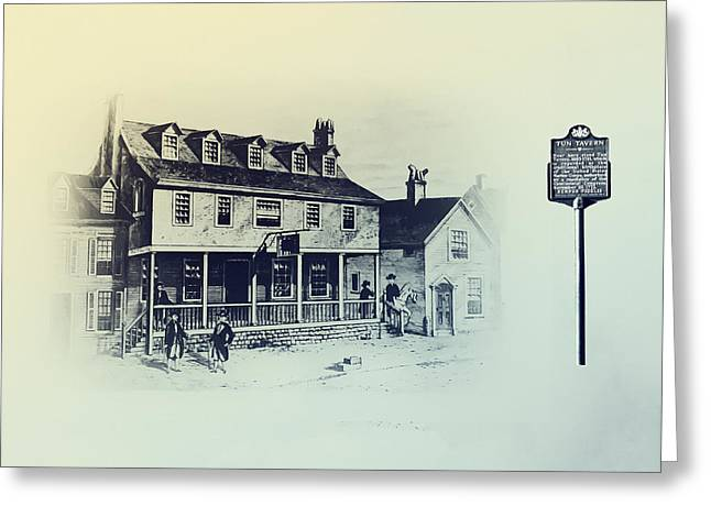 Bill Cannon Greeting Cards - Tun Tavern - Philadelphia - Birthplace of the Marine Corps Greeting Card by Bill Cannon