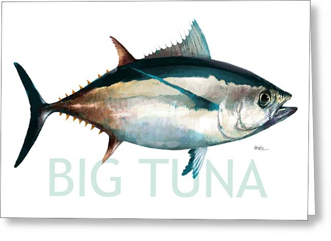 Tuna 001 Greeting Card by Trevor Irvin