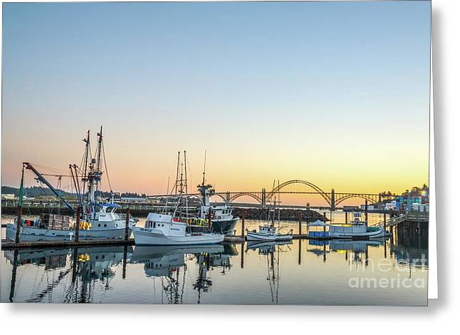 Tuna Boats Resting For The Night Greeting Card