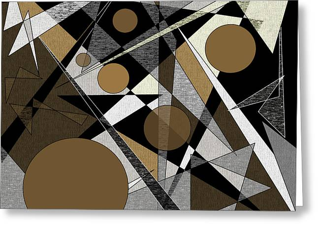 Confusion Greeting Card by Val Arie