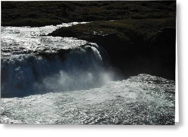 Tungufljot River And Faxi Falls Greeting Card by David Halperin