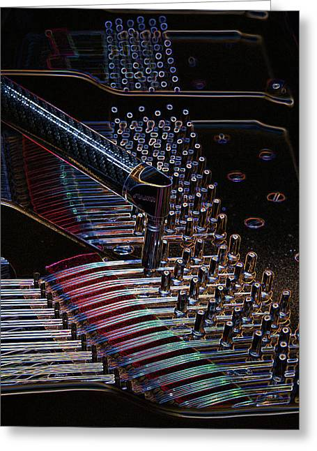 Tuning A Steinway For Jazz Greeting Card