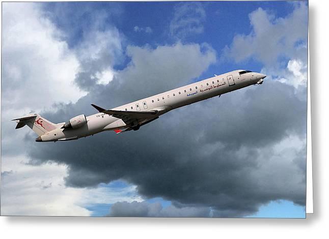 Tunisair Express Bombardier Crj-900er Greeting Card