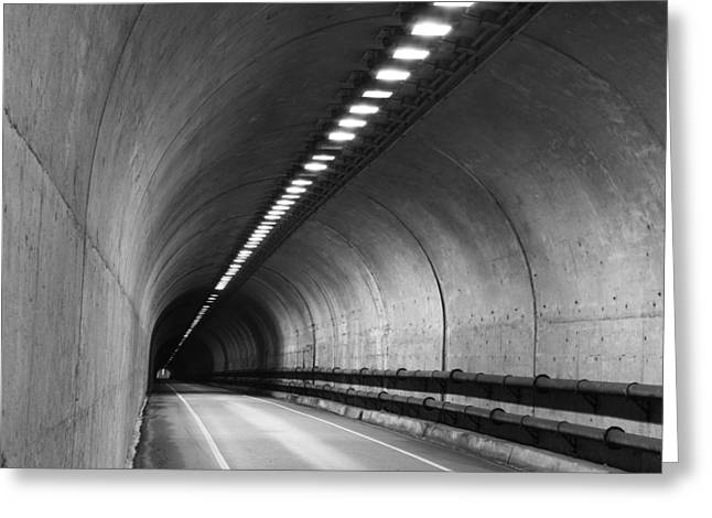 Tunnel Greeting Card by Eric Foltz