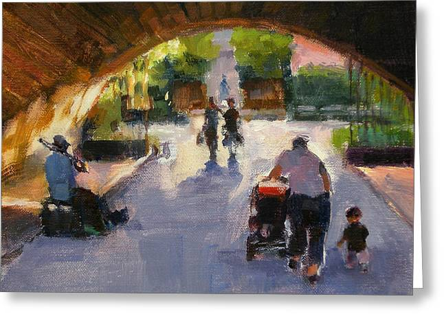 Tunnel In Central Park Greeting Card by Merle Keller