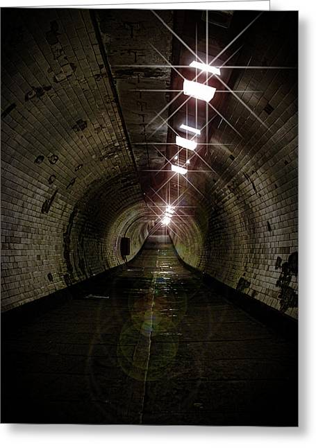 Tunnel Light Greeting Card by Martin Newman