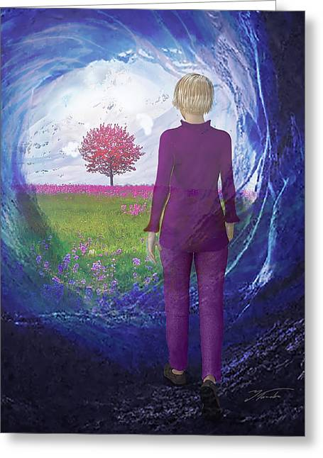 Tunnel To Eternal Life Greeting Card