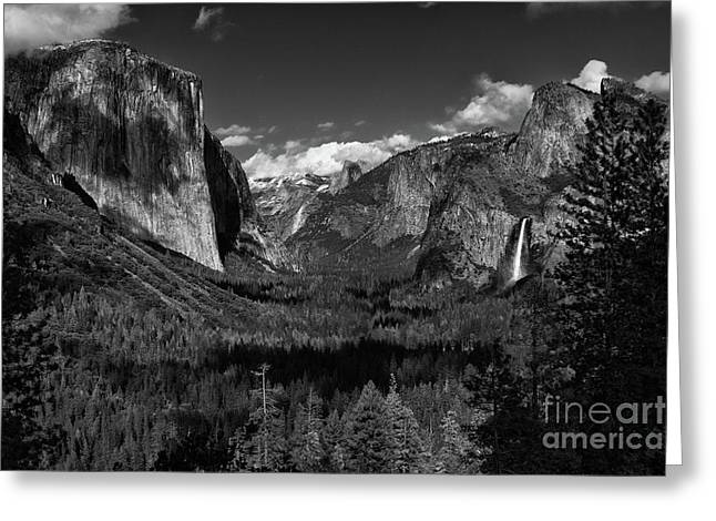 Tunnel View Black And White  Greeting Card