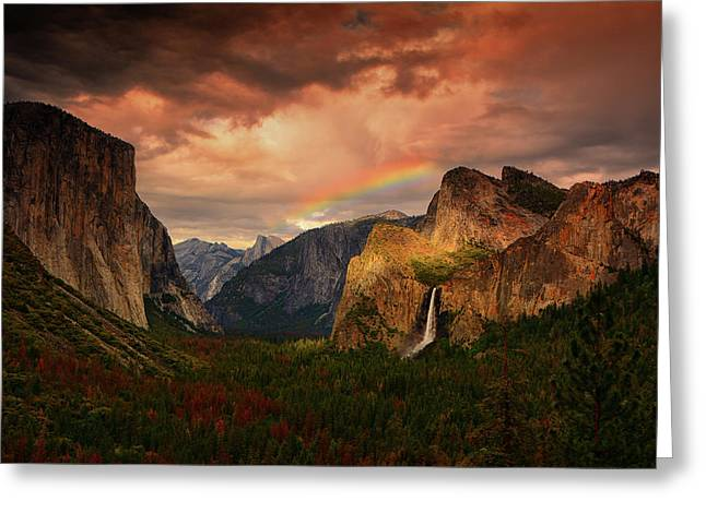 Tunnel View Rainbow Greeting Card
