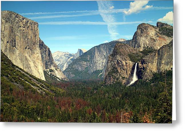 Tunnel View Yosemite Greeting Card