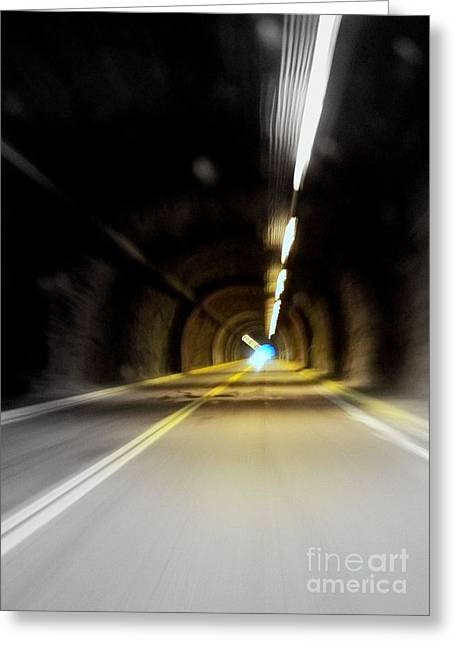 Tunnel Vision Greeting Card by Peyton Imes