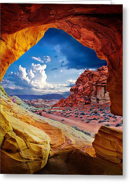 Tunnel Vision Greeting Card by Renee Sullivan