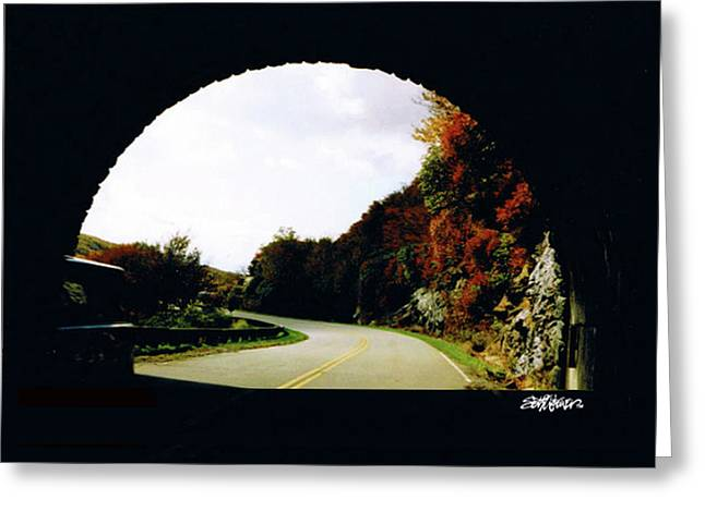 Tunnel Vision Greeting Card by Seth Weaver