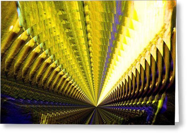 Tunneled Warp Greeting Card by Jeff Swan