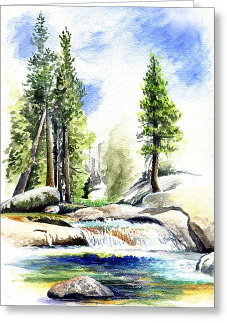 Tuolumne River On An August Afternoon Greeting Card by Logan Parsons