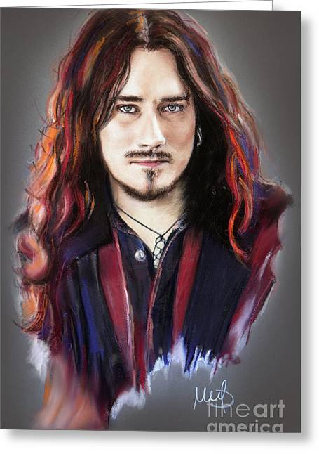 Tuomas Holopainen Greeting Card by Melanie D
