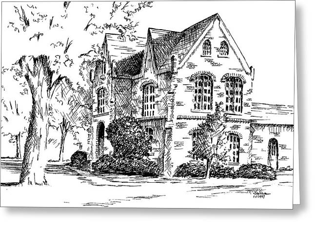 Tuomey Hall, University Of Alabama Greeting Card by Jim Stovall