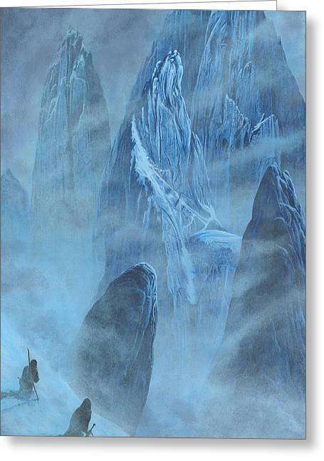 Tuor And Voronwe Approach Gondolin Greeting Card