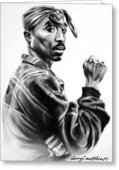 Tupac Shakur Greeting Card
