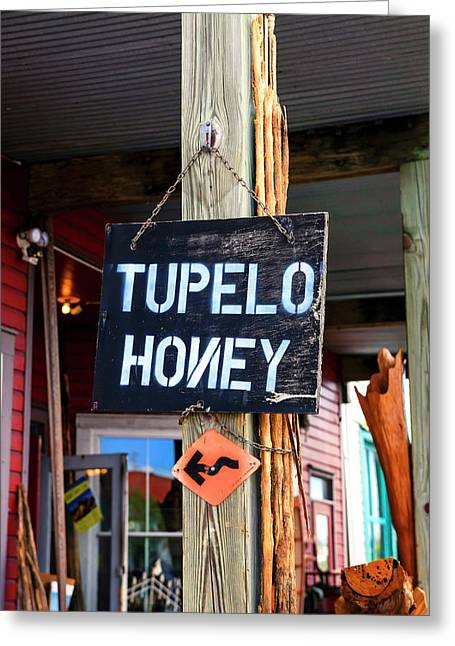 Tupelo Honey Sign Greeting Card by Chris Smith