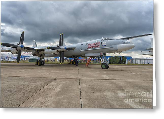 Tupolev Tu-95ms At Maks Air Show In Moscow, Russia Greeting Card by Ivan Batinic