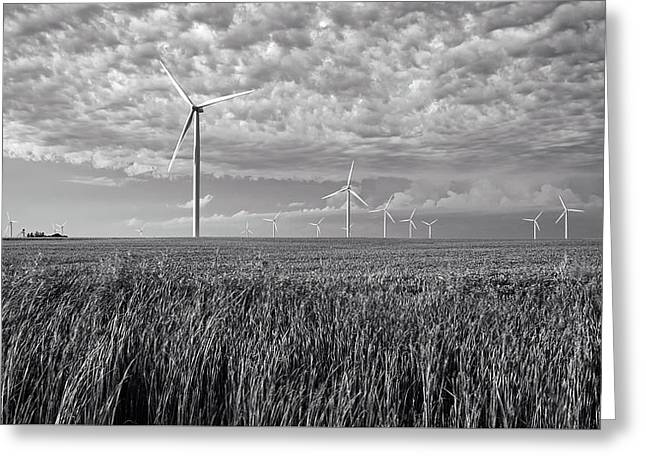 Turbines And Soybeans Greeting Card by Mountain Dreams