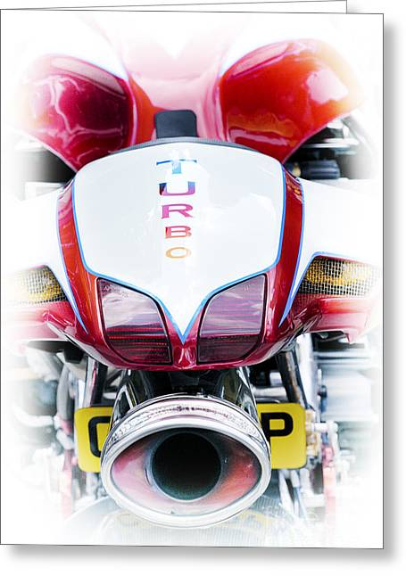 Turbo Charged Greeting Card by Tim Gainey