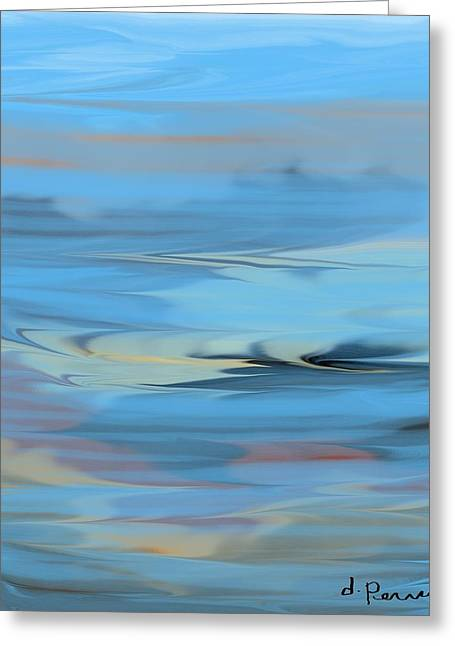 Turbulence Greeting Card by D Perry