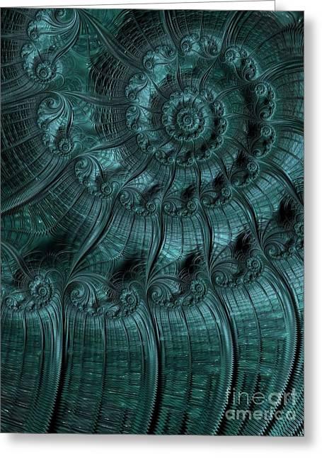 Turbulence In Blue Greeting Card by John Edwards