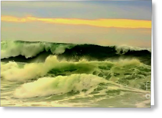Turbulent Ocean Swell Greeting Card