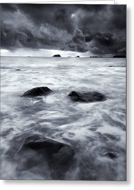 Turbulent Seas Greeting Card