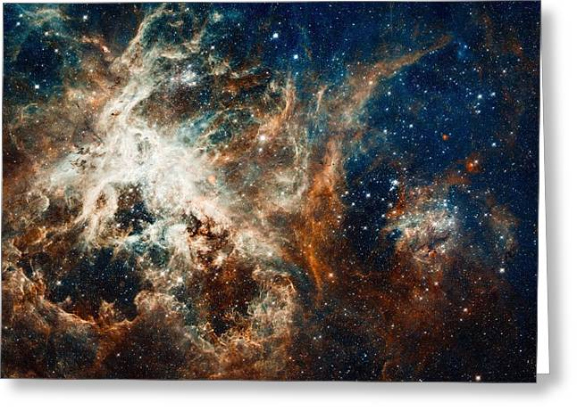 Turbulent Star-making Region Greeting Card by Marco Oliveira