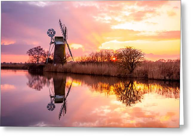 Turf Fen Mill Greeting Card