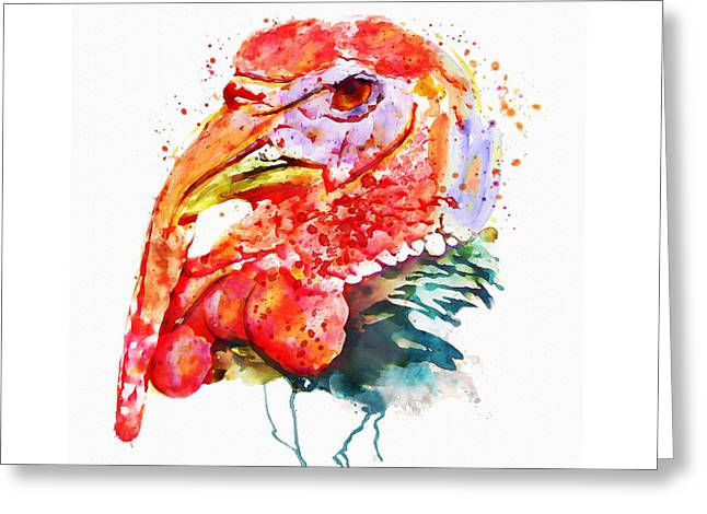 Turkey Head Greeting Card