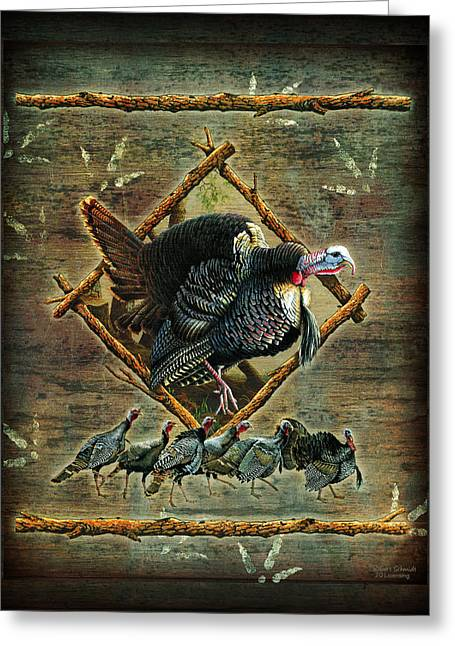Turkey Lodge Greeting Card