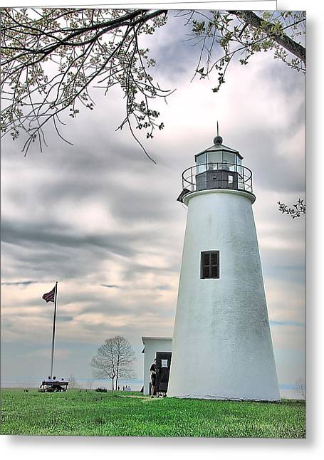 Turkey Point Lighthouse Greeting Card by Mark Fuller