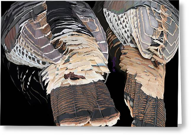 Turkey Tails Closeup Greeting Card by Pam Little