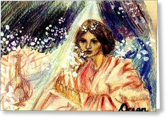 Turkic Woman Greeting Card by Ocean